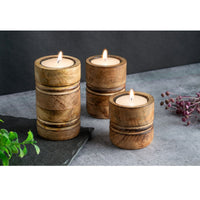 Baku Candle Stands (Set of 3)(Burnt Finish)