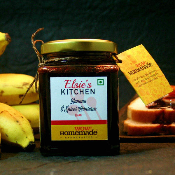 Banana & Spices Conserve (Jam)(Handcrafted) at Qtrove