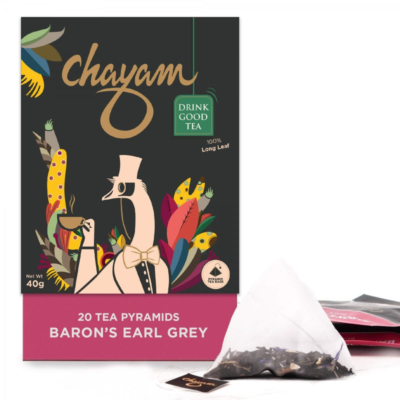 Baron's Earl Grey Black Tea (20 Pyramid Tea Bags)