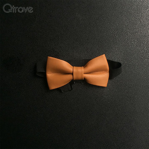 Classic Genuine Leather Bow Tie