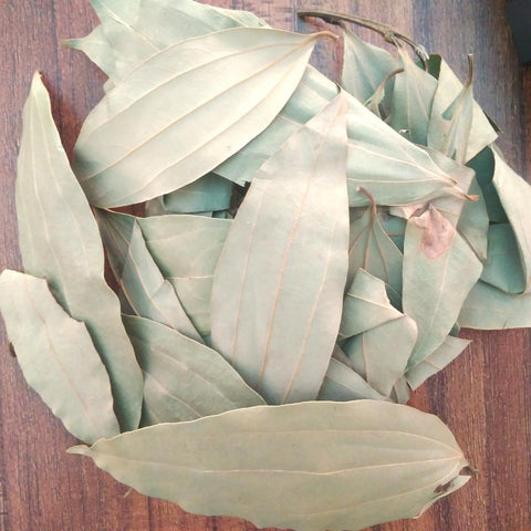 Sun Dried Tej Patta / Bay Leaf  Leaves (Used In Rheumatism, Colic, Diarrhea, Nausea and Vomiting)