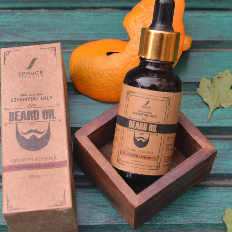 Beard Growth Oil (Cedarwood & Mandarin) (100% Natural)