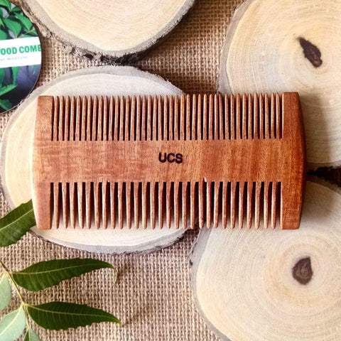 Beard & Mustache Comb Handcrafted With Neem Wood