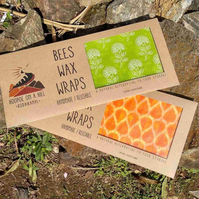 Beeswax Wraps – A Natural Alternative to Food Storage (Set of 3)