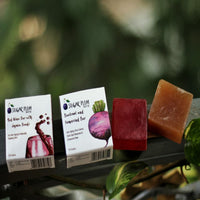 Beetroot Tamarind Bar & Red Wine With Jojoba Beads Bar (Pack of 2)