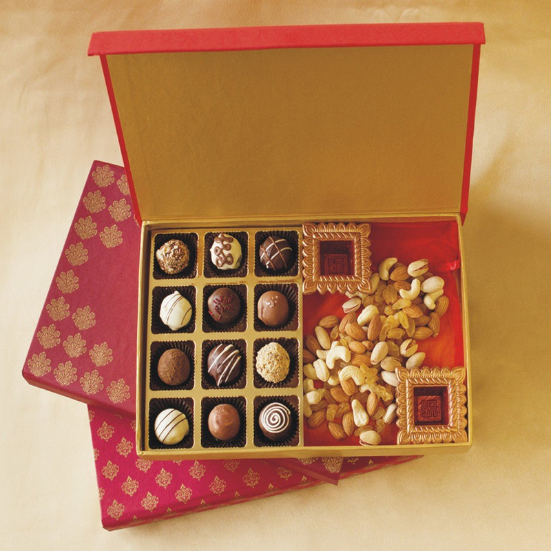 Belgian Pralines Chocolates & Dry Fruits Combo (Diwali Treat)