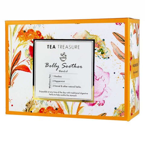 TeaTreasure Belly Soother Tea - 18 Pyramid Tea Bags