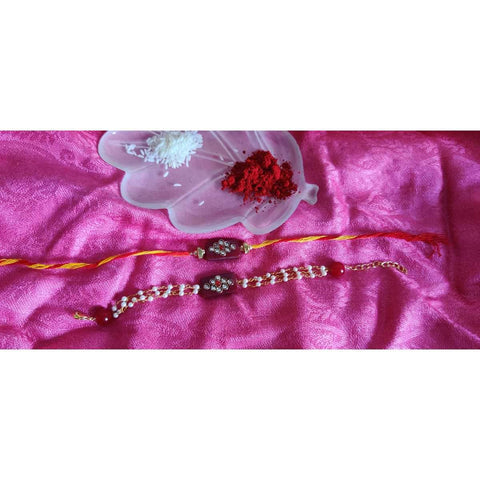 Bhai Bhabi Rakhi Set Raksha Bandhan (Pack of 2)