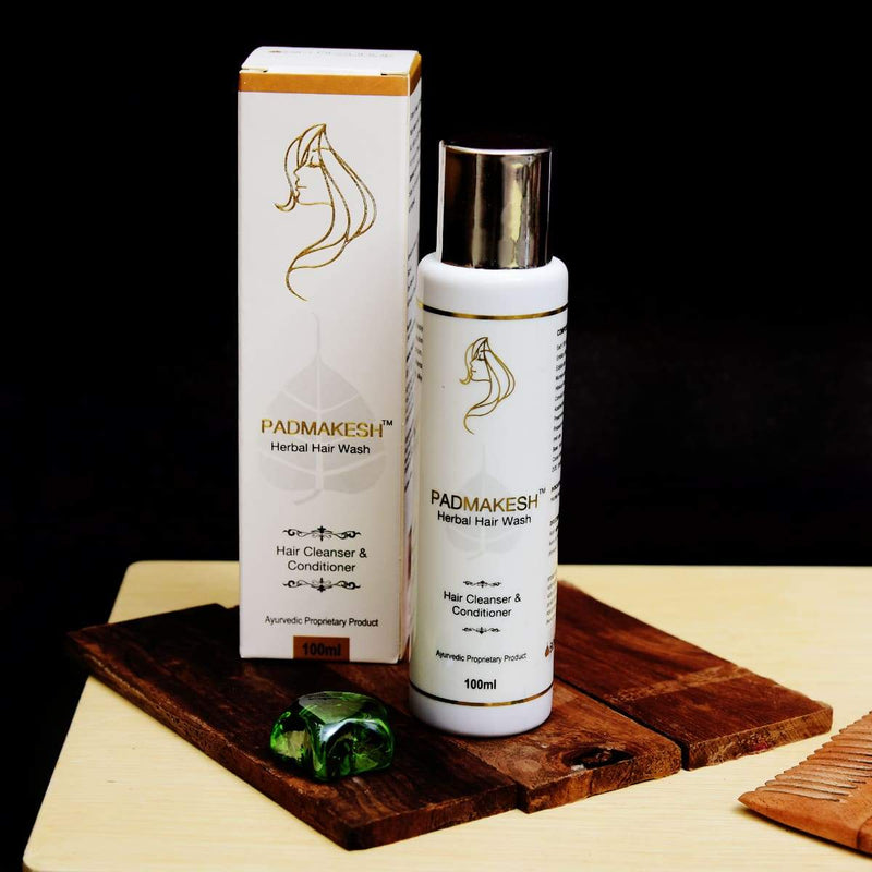Padmakesh Herbal Hair Wash Shampoo (Hair Cleanser & Conditioner)