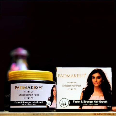 Padmakesh Shilajit Natural Hair Pack (For Stronger And Thicker Hair)