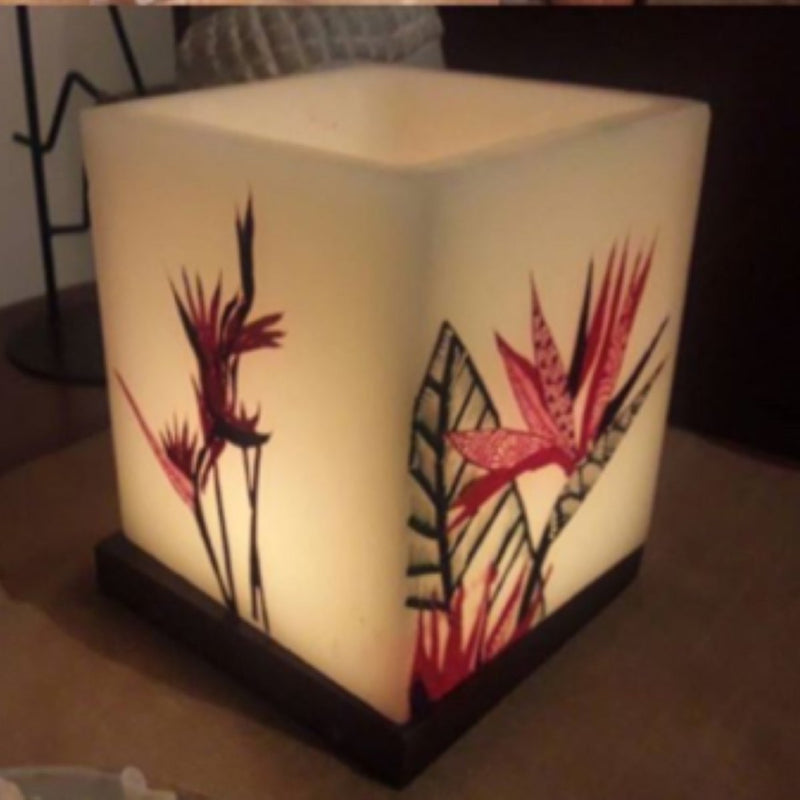Birds Of Paradise Hollow Square Candle Holder