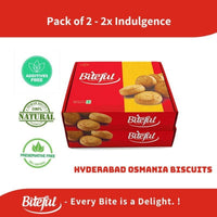 Osmania Biscuits - Preservative Free (Pack of 2)