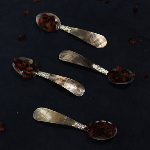 Black Mother of Pearl Spoon ( Set of 4 )