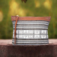Black & White Handcrafted Clutch