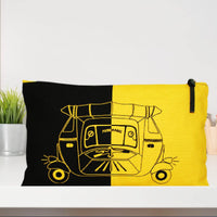 Black and Yellow Pouch
