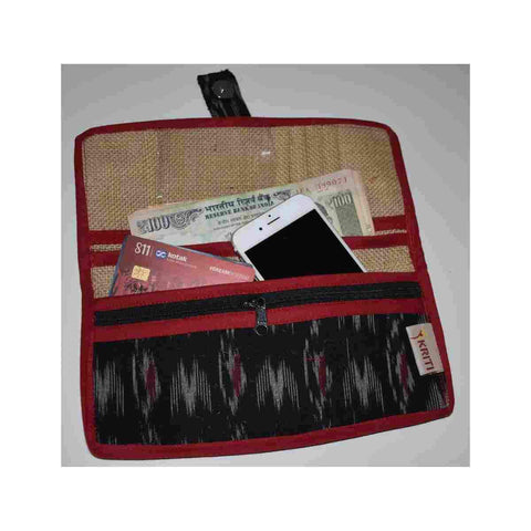 Black Ikat Ladies Wallet