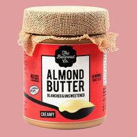 Blanched (Without Skin) Unsweetened Almond Butter, Creamy Jar