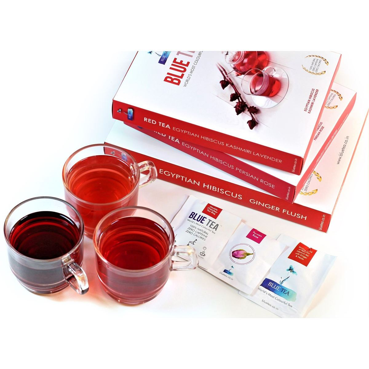 Blood Sugar Control Tea For Diabetics | 3 Varieties | 12 Sachets - 24 Cups | Hibiscus Tea | Caffeine Free Herbal Tea