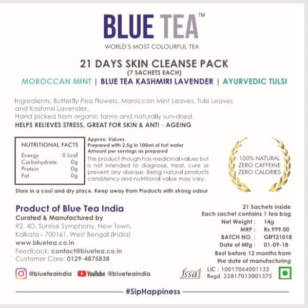 21 Days Skin Cleanse (Herbal Tea White Box Gift) at Qtrove