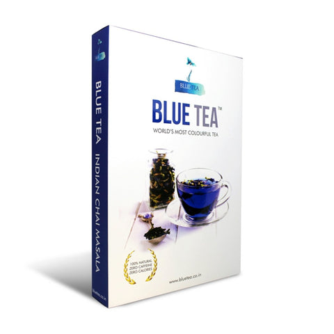 BLUE TEA - Chai Masala Loose | Caffeine Free Herbal Tea for Detox | 25g - 25 Cups