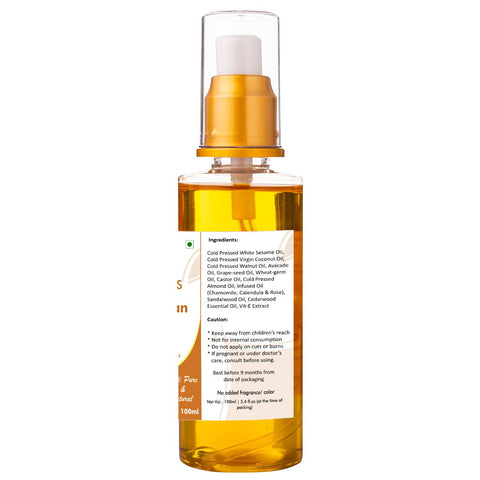 Body Oil - Sandalwood & Chamomile, 100ml