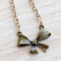 Bow Pendant with Chain Necklace