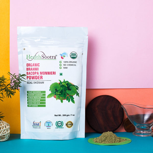 100% Organic Brahmi Powder at Qtrove