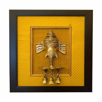 Brass Ganesha Wall Hanging With Frame