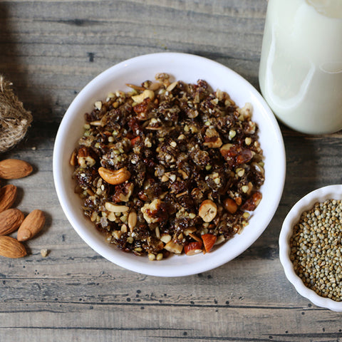Buckwheat Groats and Millets Muesli