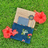 Floral Print With Multiple Pockets Book (Burlap Collection)