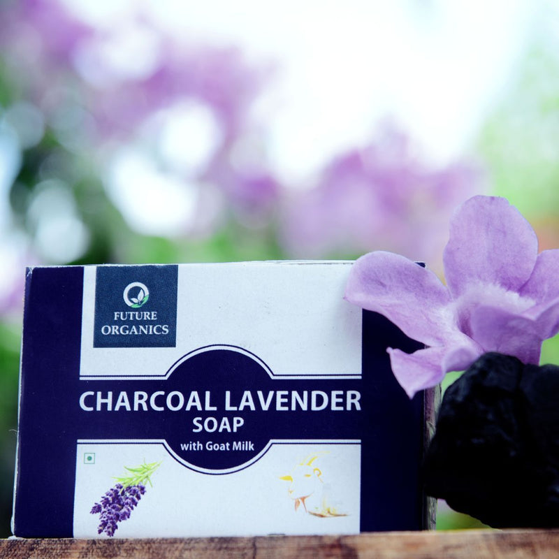 Charcoal Lavender Soap With Goat Milk (Pack of 2)