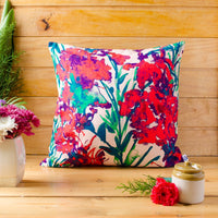 Blooming Red Cushion Cover