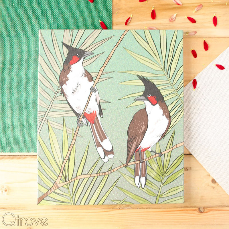 Bulbul Stretched Canvas Wall Art