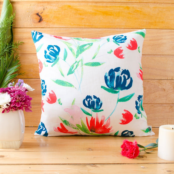 Floating Buds Cushion Cover at Qtrove