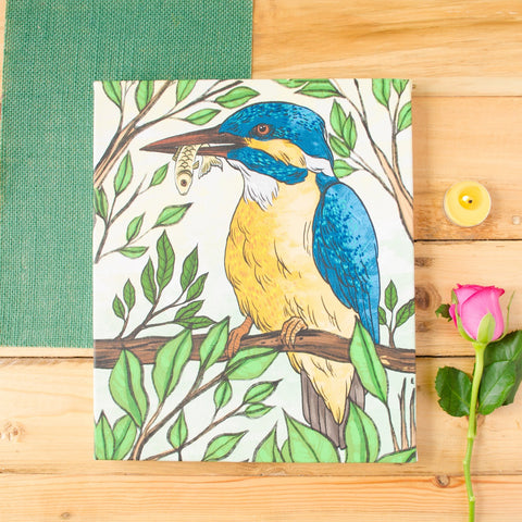 Kingfisher Stretched Canvas Wall Art