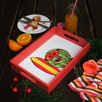 Wooden Serving Tray Surfer Melon