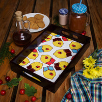 Wodden Serving Tray Lazy Lemons
