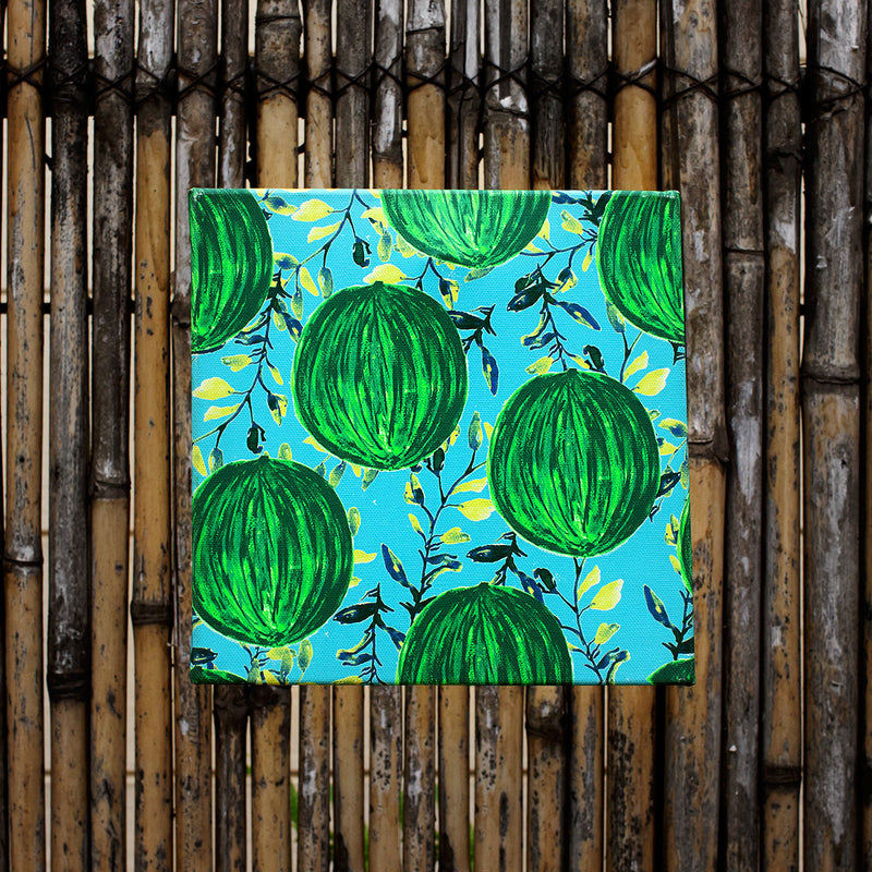Canvas Wall Art Water Colour Melons