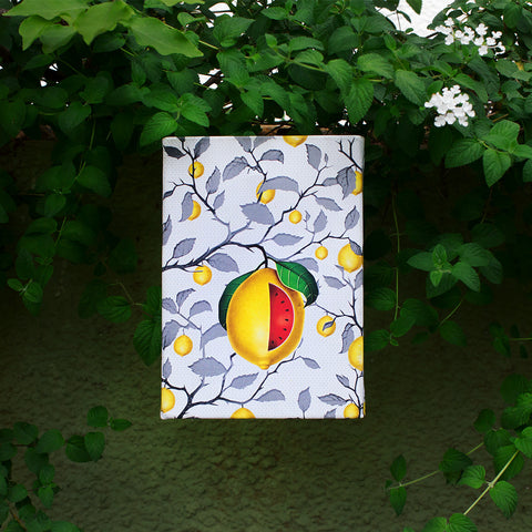Canvas Wall Art Water Colour Lemons