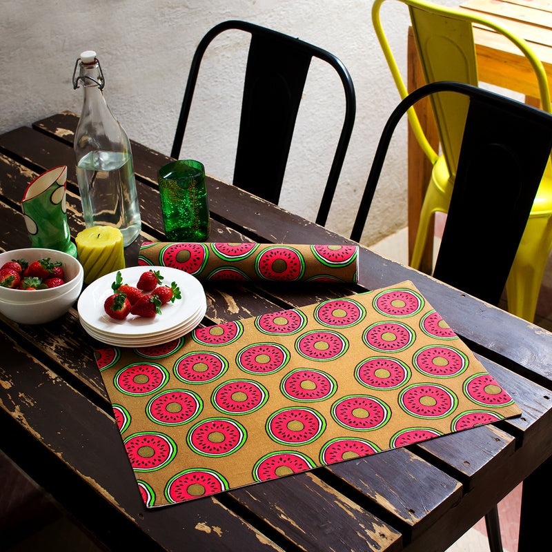 Table Mats Sliced Melons