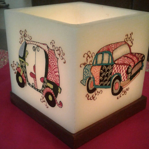 Turbanman  Square Hollow Candle Holder (Car & Auto)