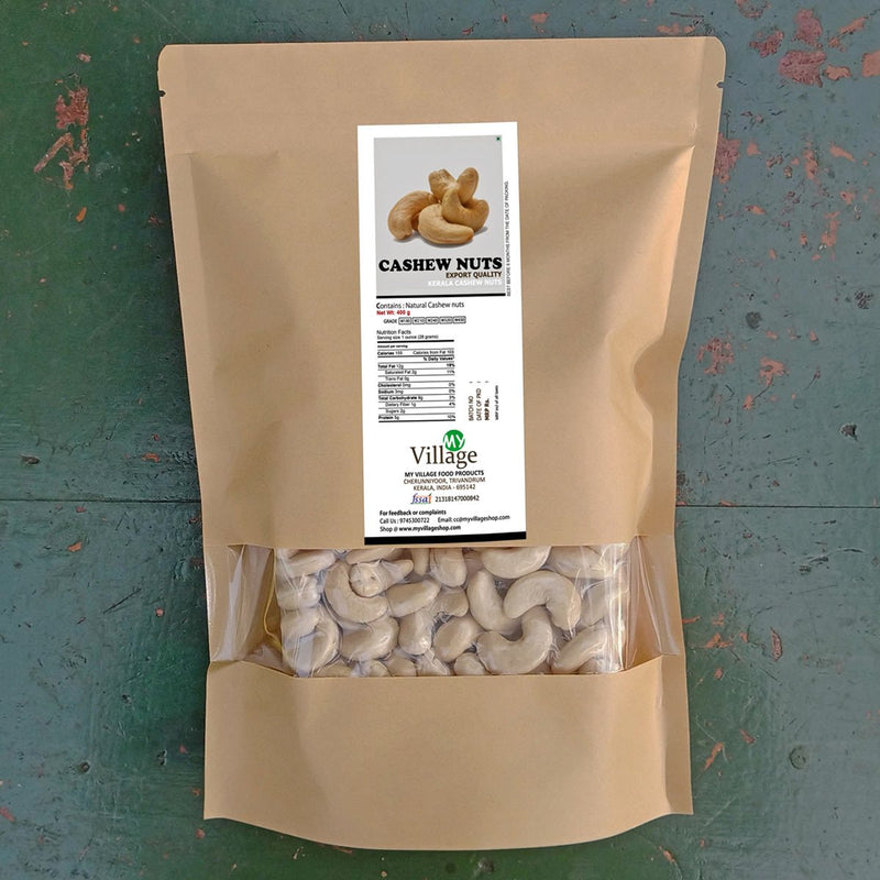 Cashew Nuts (Whole Plain Kaju), Kerala W320 Export Grade