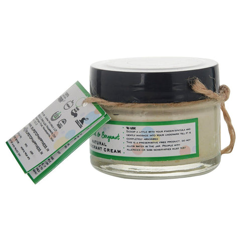 Cedarwood & Bergamot Natural Deodorant Cream with Shea Butter & Cocoa Butter