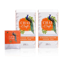Ginseng Spiced Tea Immunity Boosting Oriental Ginseng & Ayurvedic Herbs infused 50 TeaBags