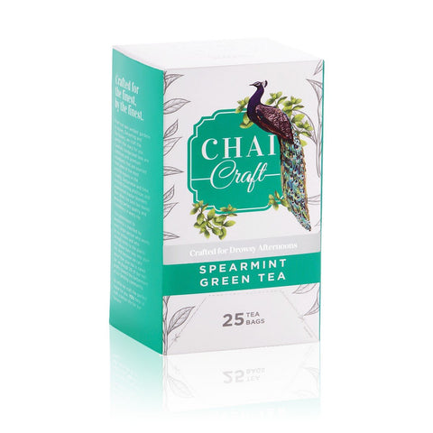 Spearmint Green Tea Minty Sweetness Of Natural Spear Mint Refreshing Taste (50 Teabags)