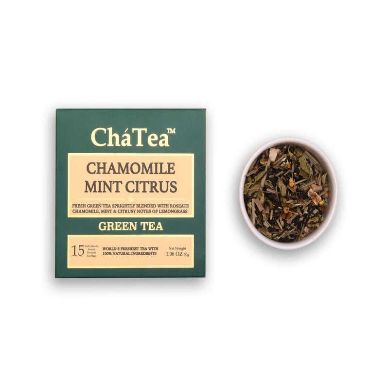 Chamomile Mint Citrus Green Tea Bags