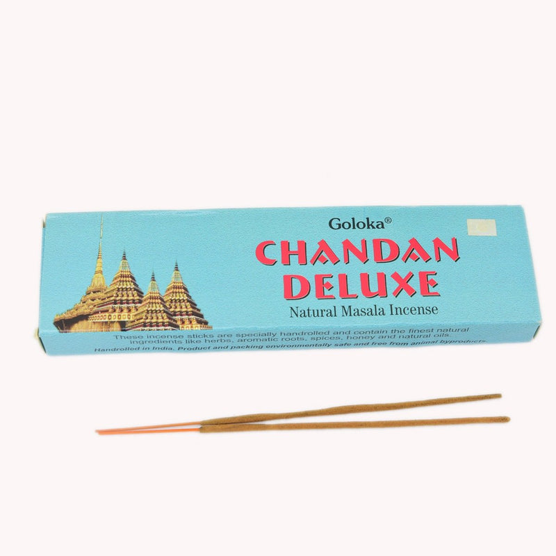 Chandan Deluxe Incense Sticks Pack Of 2 (100 Grams Each Pack)