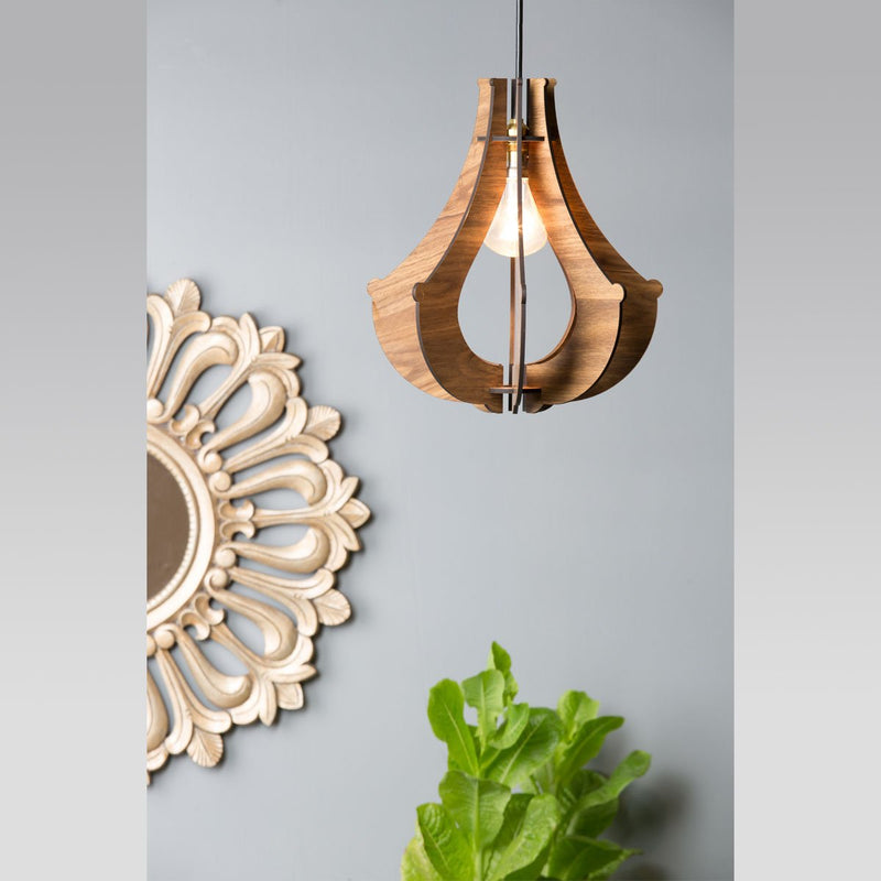 Chandelier Style Wooden Ceiling Lamp