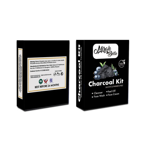 Charcoal Facial kit - Organic & Natural - Cleansing Pores, Removing Blackheads