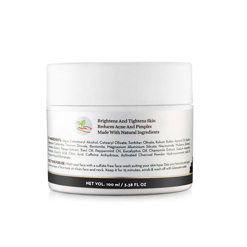 Charcoal, Coffee and Clay Face Mask (100ml)